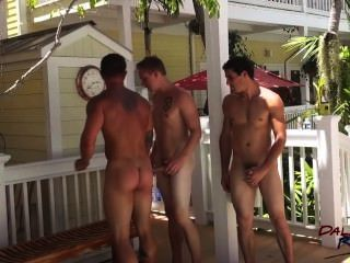 Three Guys Fucking Bareback