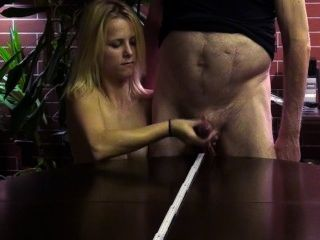 Jizz Wideshooting With Blonde Girl