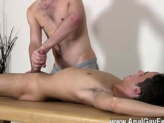 Gay Porn Brit Youngster Oli Jay Is Bound Down To The Table, His Sleek And