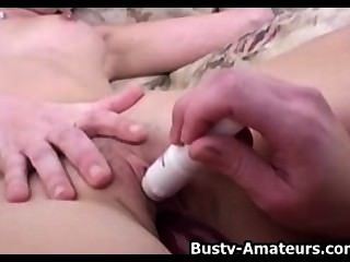 Busty Amateurs Sunny And Holly Fucking A Dildo