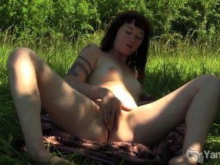 Tattooed Amateur Turqoise Masturbating Her Twat