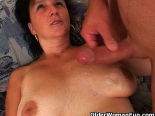 Bored Milfs Craving Fresh Cum On Their Face And Tits