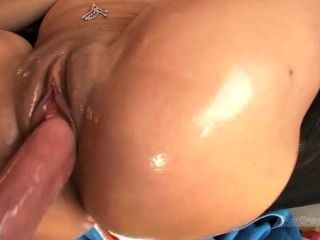 Sexy Valerie Kay Gets Her Oiled Ass Sprayed With Cum