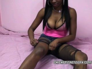 Ebony College Girl Mercy Starr Is Playing With Her Twat