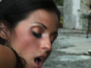 Janessa Brazil Masturbates Outside