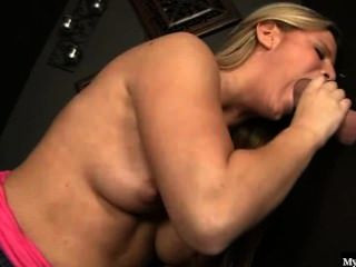 Jessica Marie Is A Very Naughty Blonde Teen, Gloryhole