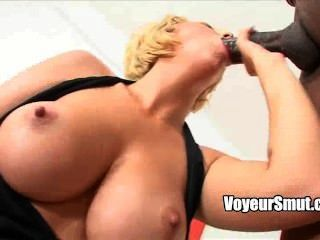 Blonde Babe Mandy Sweet Sucks Black Cock Before Getting Oral