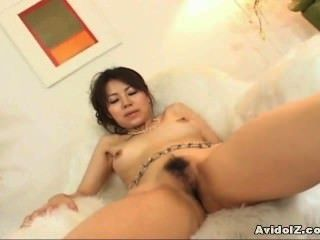 Japaneses Teen Shows Her Hairy Pussy Uncensored