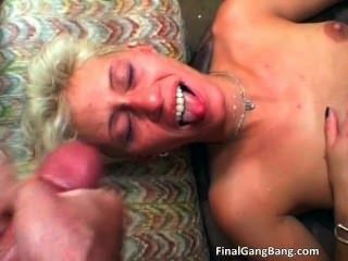 Sexy Blonde Milf Gets Her Last Gangbang Part6