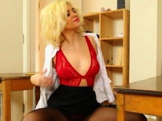 Blond Bitch In Sexy Red Teasing Sexy