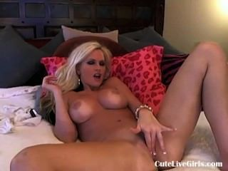 Sexiest Blonde On Earth Fingering Her Pussy 1