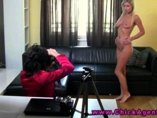 Lesbian Sex Auditions With Blond Beauty