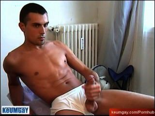 Greg A French Guy Get Wanked His Huge Cock By A Guy! His 1srt Porn Video.