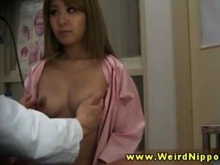 Amateur Asian Patients Get Tits Out For Their Doctor