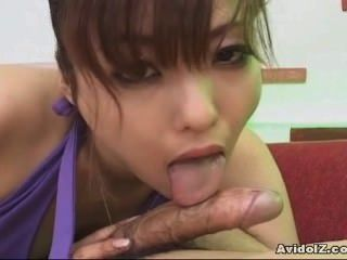 Japanese Babe Swallows Cum Uncensored