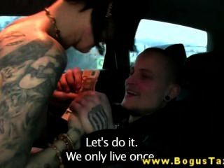 Real Raven With Tattoos Fucks Taxi Driver
