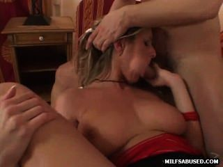 Busty Blonde Milf Honey Getting Double Teamed