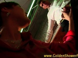 Piss Drenching Golden Shower Slut