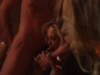 Breasty Blonde Fucking Before Fireplace