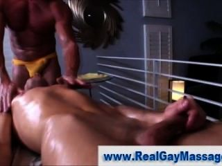 Straight Guy Anal Toyed By Masseur