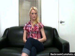 Average Next Door Blonde Interviewed Before Her Very First Hardcore Movie