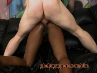 Thick Sista Gets A Fat White Dick In Her Ass