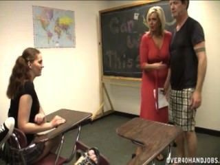 Handjob In The Classroom