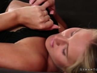 Blonde Dp Fucked By Guy With Strapon Toy