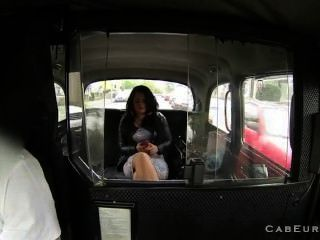 Brunette Shaved Pussy Fucked In Cab