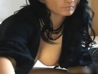 Big Tit Webcam Girl Plays With Her Pussy