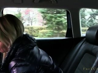 Hot Blonde Fucked From Behind In Taxi