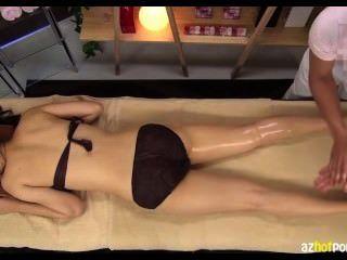 Sensitive Womans Vaginal Cum Shot