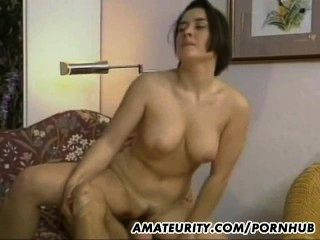 Hot And Busty Amateur Girlfriend Anal Action
