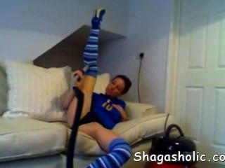 Babe Uses A Vacuum Cleaner To Get  - Shagasho