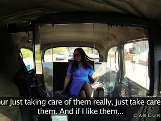 Nurse In Her Uniform Fucked In Fake Taxi