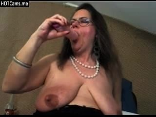 Mature Big Natural Tits Dildo Play