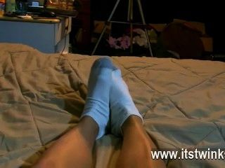 Amazing Gay Scene He Films His Nice Feet In A Pair Of Ordinary Cotton