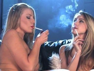 Danni And Chloe Chain Smoke Marlboro Reds And Masturbate