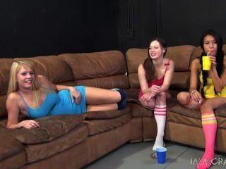 Allie James, Jayden Lee, Natalie Moore With Cigarettes