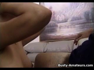 Busty Amateur Drew Takes Small Dick On Her Mouth