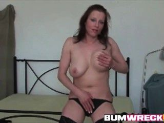Amateur Redhead Milf With Big Tits Masturbating