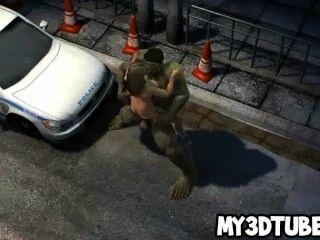 Foxy 3d Cartoon Babe Gets Fucked Hard By The Hulk