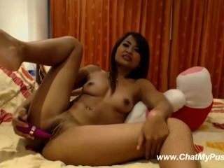 Sexy Asian With Red Dildo Live Masturbation - Chatmypussy.com