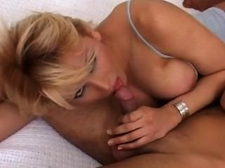 Sex Hungry Blonde Tranny Bitch Drills A Guy