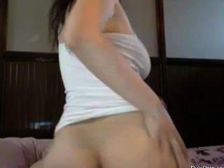 Busty Girl Teasing On Web Cam