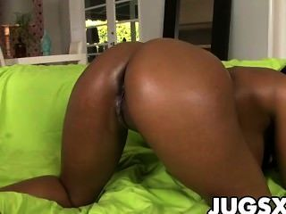 Black Babe With Huge Jugs Gets Fucked