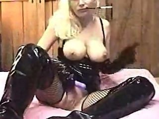 Fetishgurl - Black Latex Cigarette Holder Smoking Fetish Then Ass To Mouth