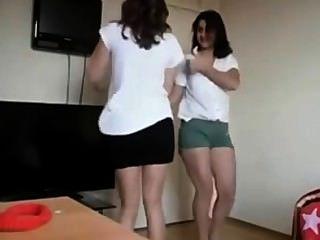 Arab - Turk School Girls Dancing On Webcam 4 Me