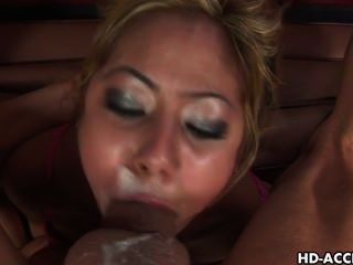 Skanky Teen Chick Kat Chokes On A Fat Cock