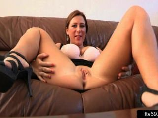 Busty Lady Opens Wide Her Legs And Pussy Video